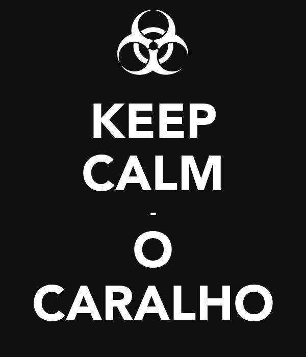 KEEP CALM - O CARALHO