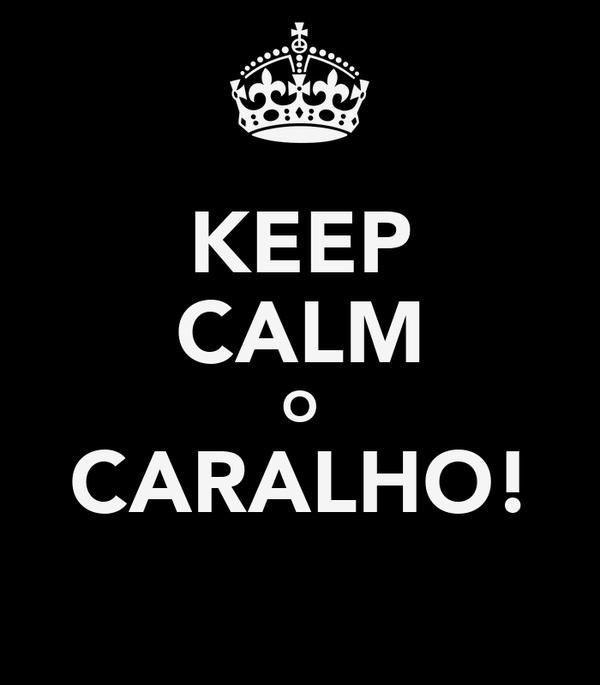 KEEP CALM O CARALHO!