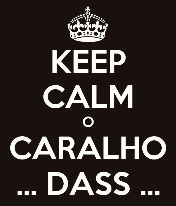 KEEP CALM O CARALHO ... DASS ...
