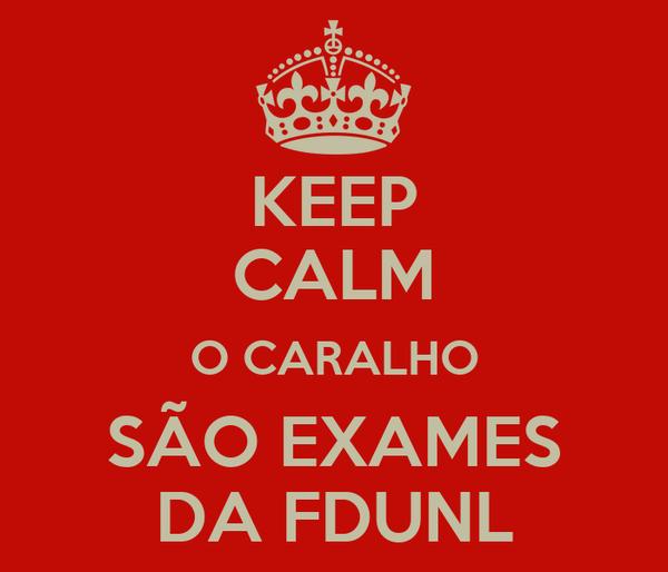 KEEP CALM O CARALHO SÃO EXAMES DA FDUNL