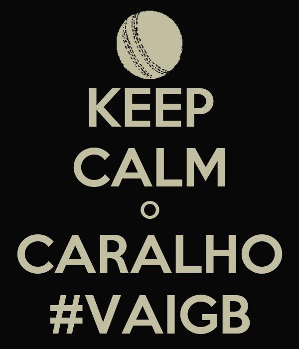 KEEP CALM O CARALHO #VAIGB