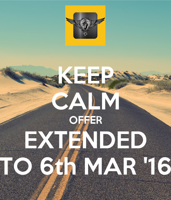 KEEP CALM OFFER EXTENDED TO 6th MAR '16