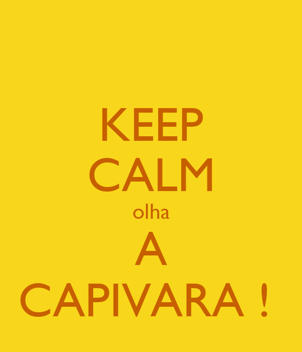 KEEP CALM olha  A  CAPIVARA !