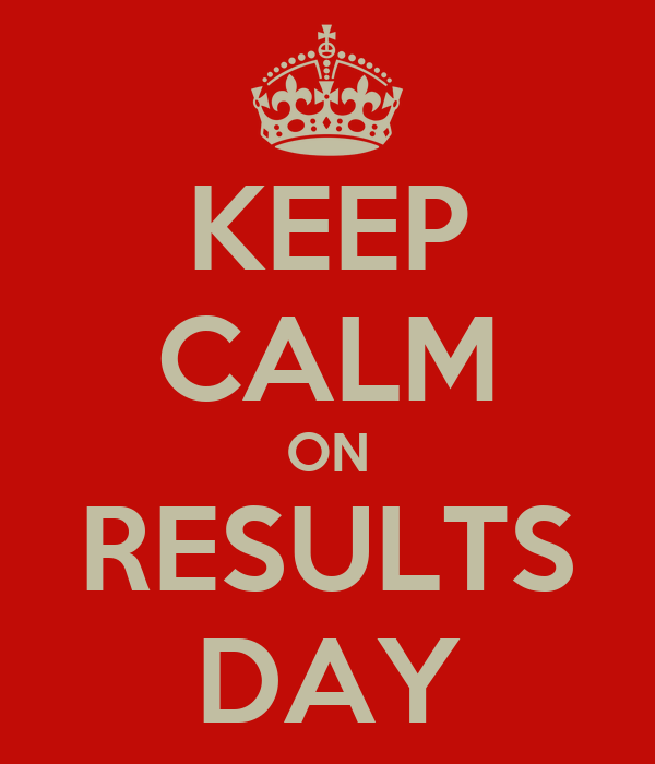 KEEP CALM ON RESULTS DAY
