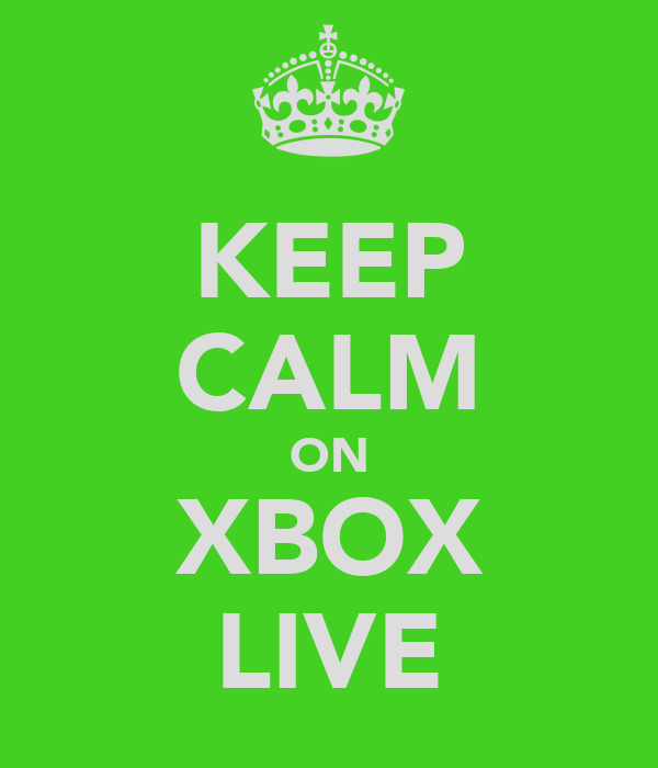 KEEP CALM ON XBOX LIVE