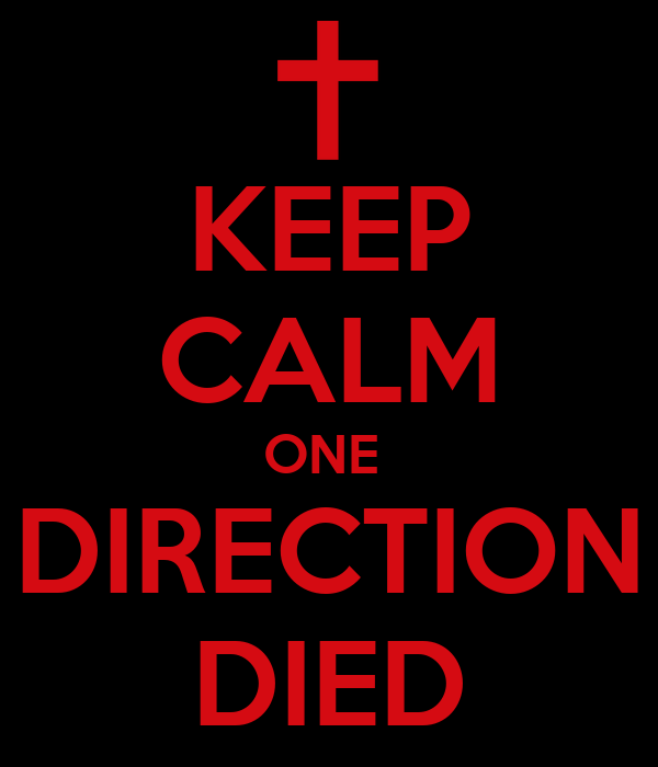 KEEP CALM ONE  DIRECTION DIED