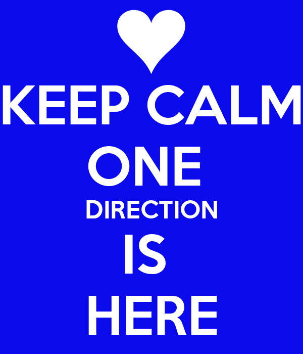 KEEP CALM ONE  DIRECTION IS  HERE