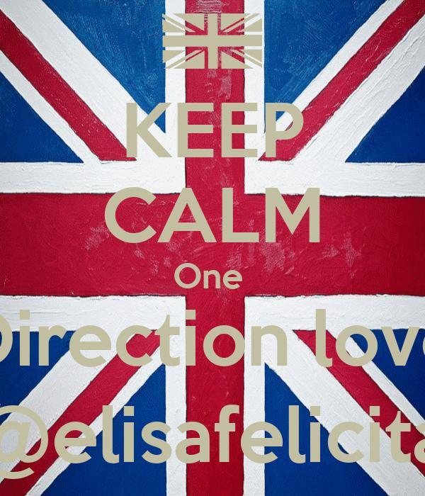 KEEP CALM One  Direction love @elisafelicita