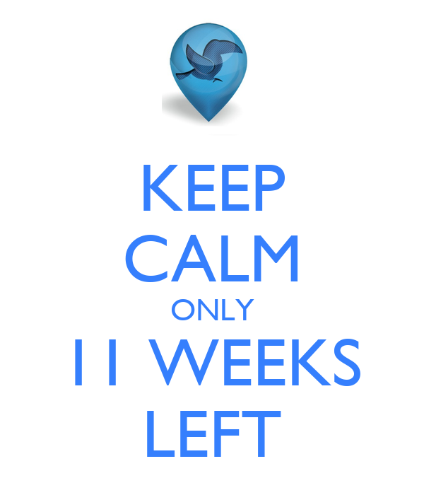 KEEP CALM ONLY 11 WEEKS LEFT