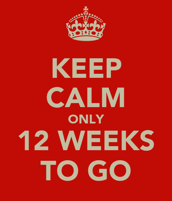 KEEP CALM ONLY 12 WEEKS TO GO