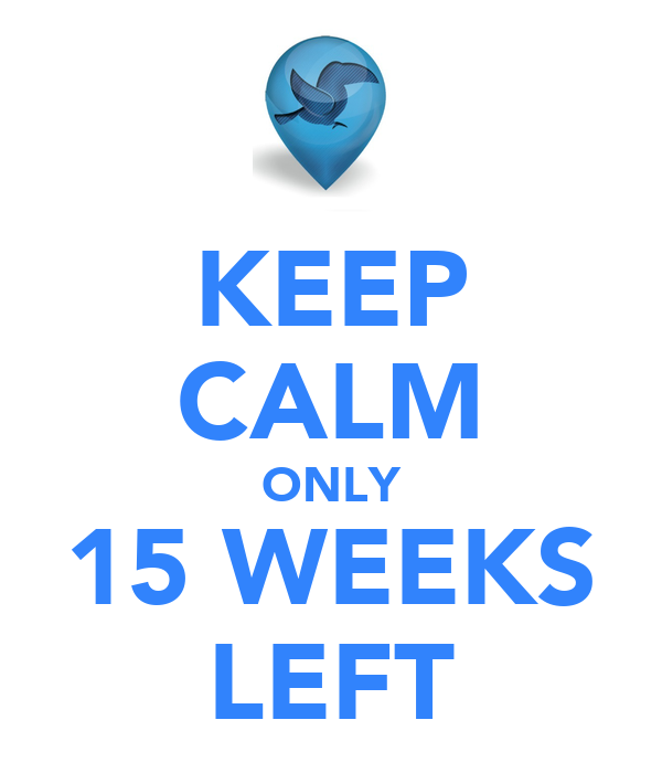 KEEP CALM ONLY 15 WEEKS LEFT