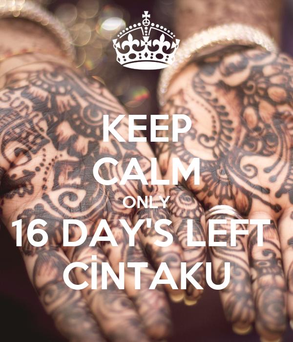 KEEP CALM ONLY 16 DAY'S LEFT  CİNTAKU