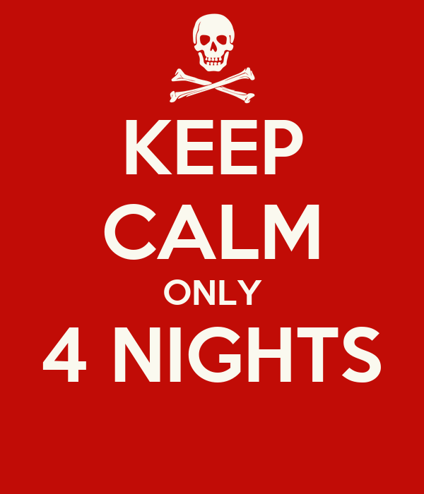 KEEP CALM ONLY 4 NIGHTS