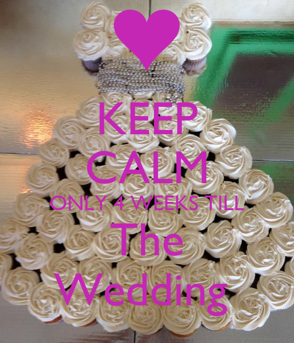 KEEP CALM ONLY 4 WEEKS TILL The Wedding