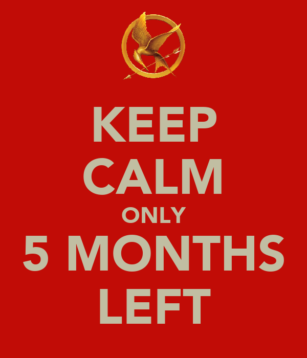 KEEP CALM ONLY 5 MONTHS LEFT