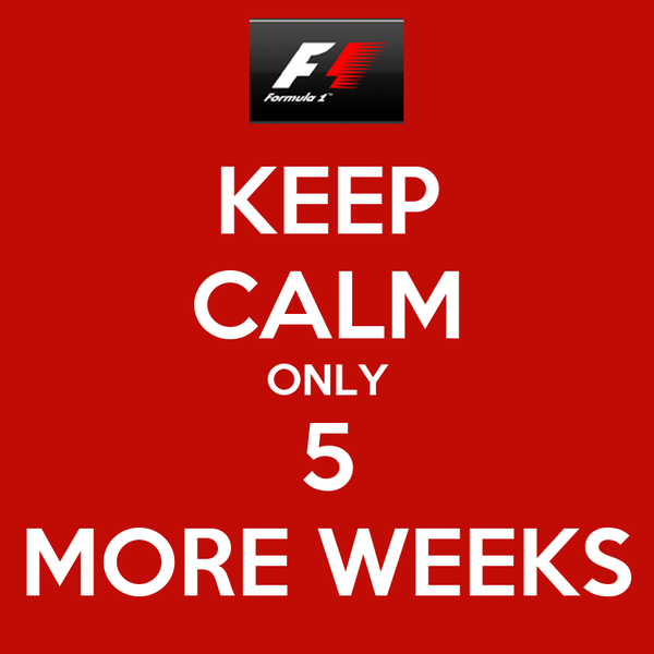 KEEP CALM ONLY 5 MORE WEEKS