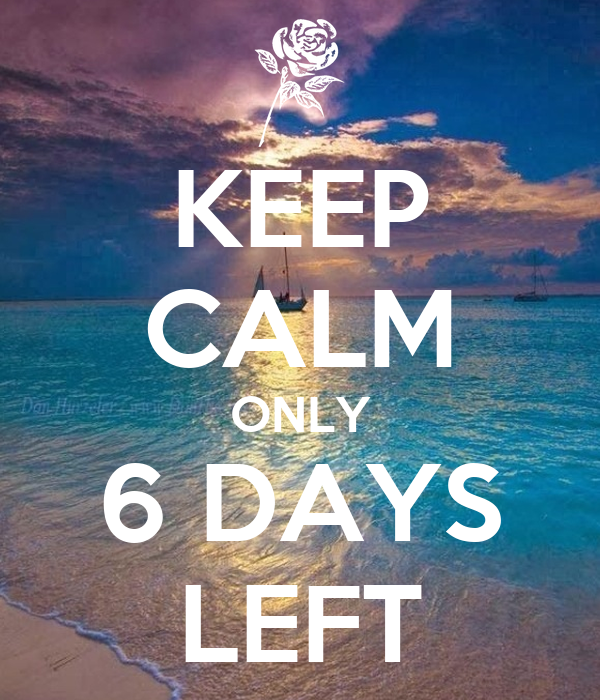 6 Days Left Until The End Of January  southfrontorg