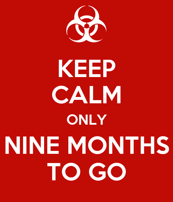KEEP CALM ONLY NINE MONTHS TO GO