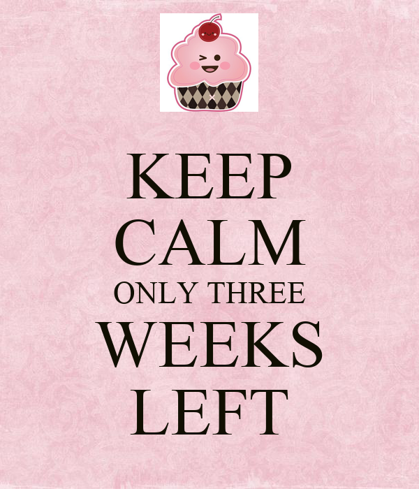 KEEP CALM ONLY THREE WEEKS LEFT