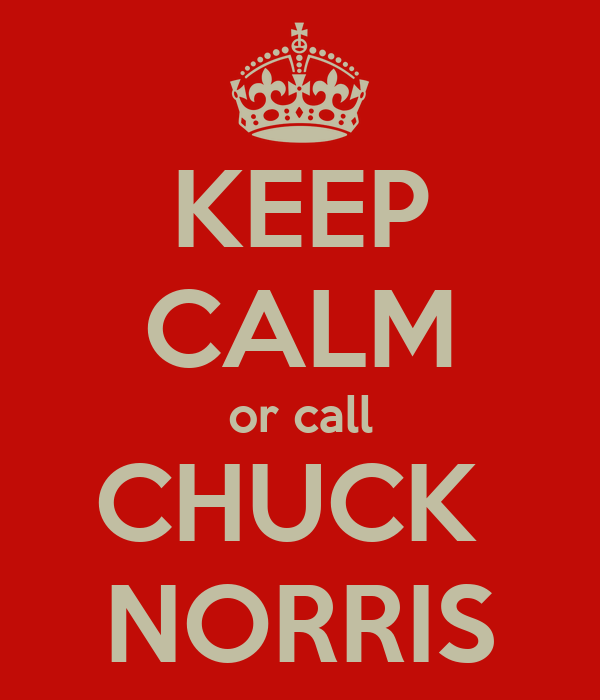 KEEP CALM or call CHUCK  NORRIS