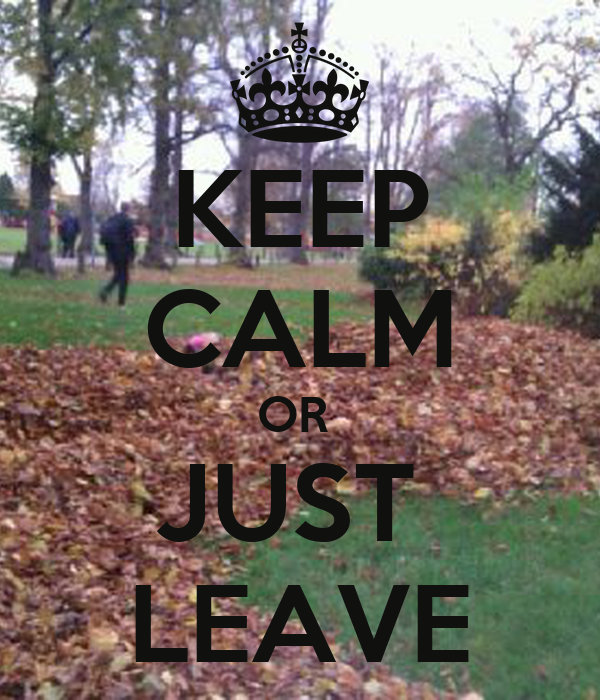 KEEP CALM OR  JUST  LEAVE