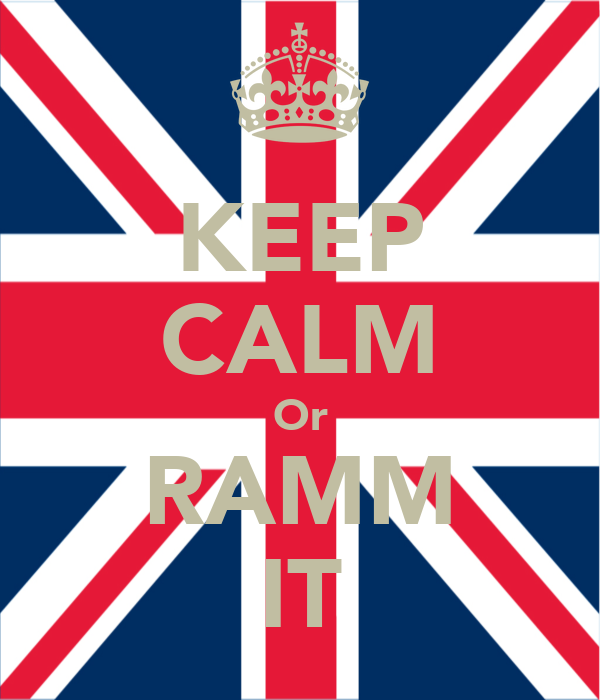 KEEP CALM Or RAMM IT