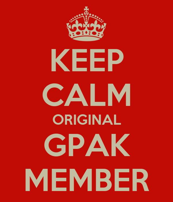KEEP CALM ORIGINAL GPAK MEMBER