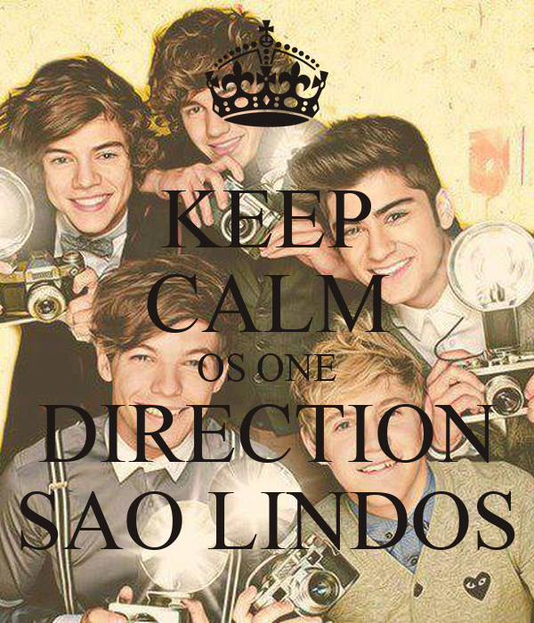 KEEP CALM OS ONE DIRECTION SAO LINDOS