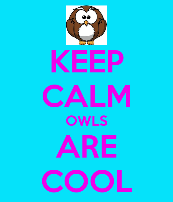 KEEP CALM OWLS ARE COOL