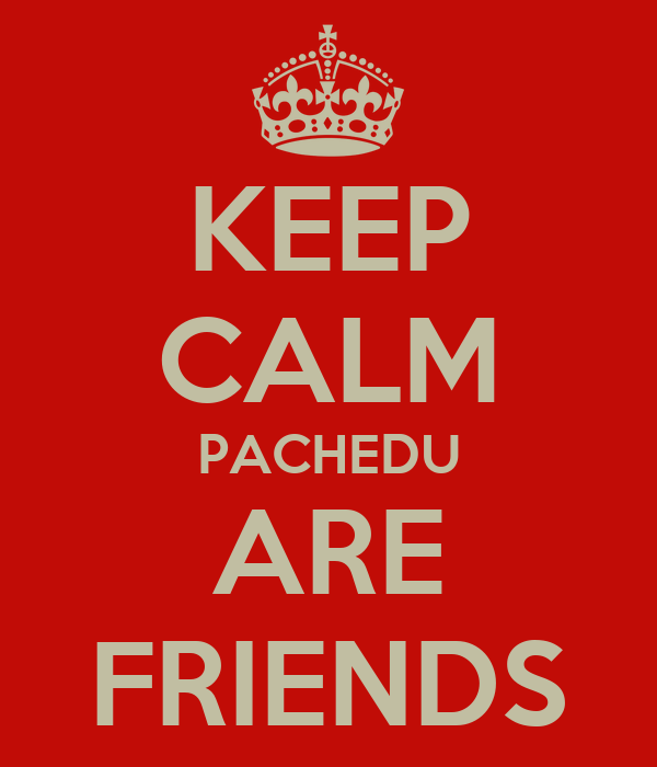 KEEP CALM PACHEDU ARE FRIENDS