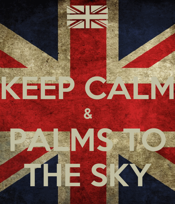 KEEP CALM & PALMS TO THE SKY