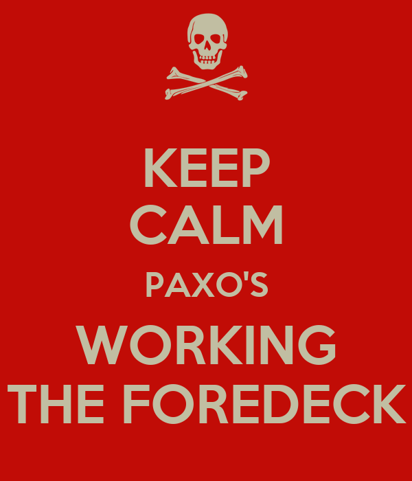 KEEP CALM PAXO'S WORKING THE FOREDECK
