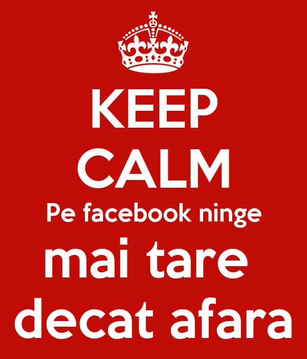 KEEP CALM Pe facebook ninge mai tare  decat afara