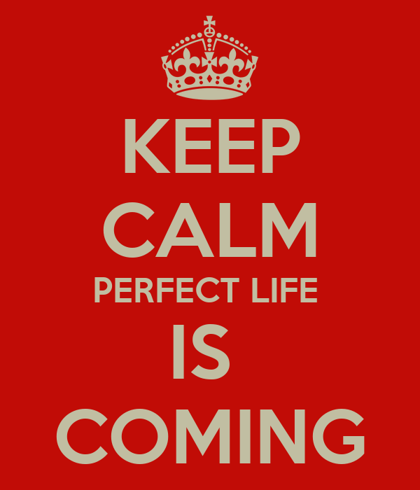 KEEP CALM PERFECT LIFE  IS  COMING