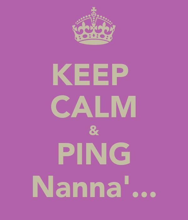 KEEP  CALM & PING Nanna'...