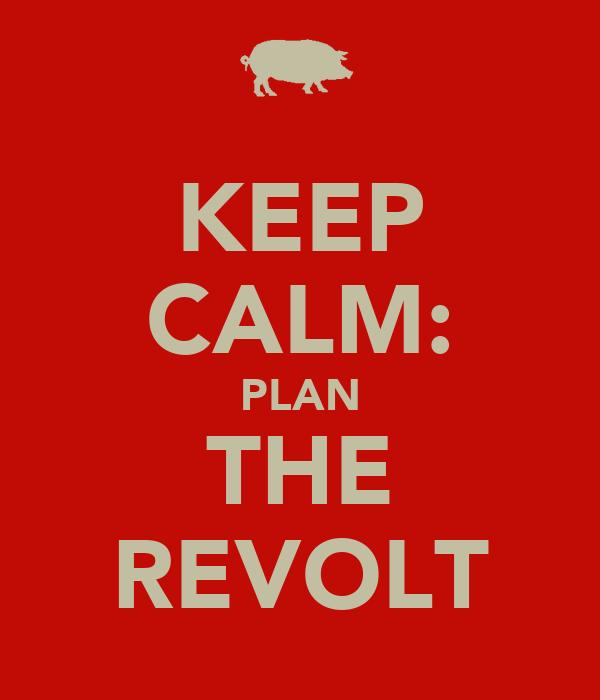 KEEP CALM: PLAN THE REVOLT