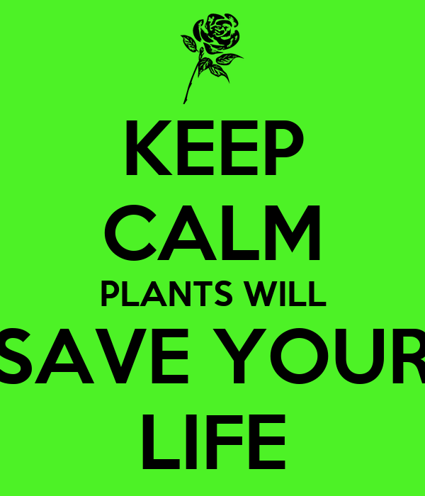 KEEP CALM PLANTS WILL SAVE YOUR LIFE
