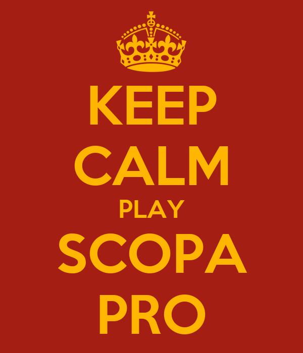 KEEP CALM PLAY SCOPA PRO