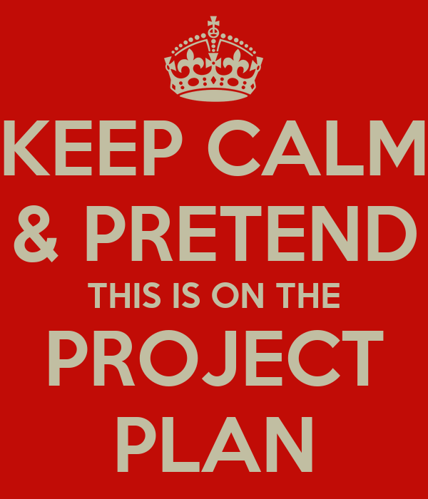 KEEP CALM & PRETEND THIS IS ON THE PROJECT PLAN
