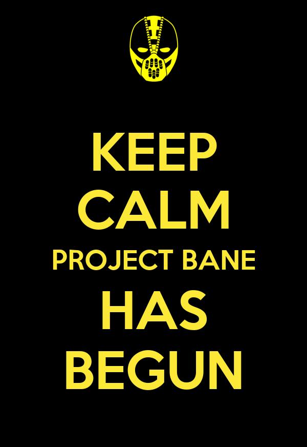KEEP CALM PROJECT BANE HAS BEGUN