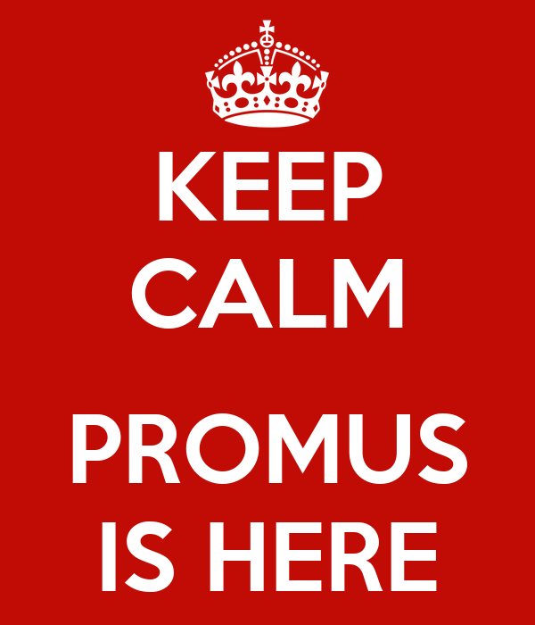 KEEP CALM  PROMUS IS HERE