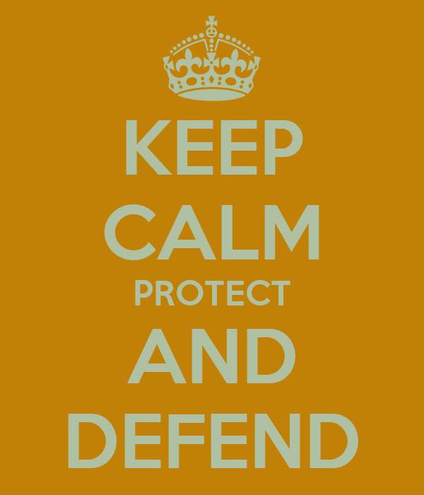 KEEP CALM PROTECT AND DEFEND