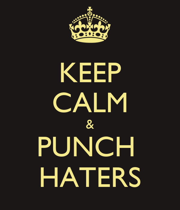 KEEP CALM & PUNCH  HATERS