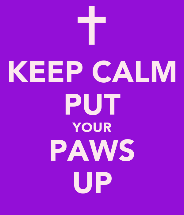 KEEP CALM PUT YOUR PAWS UP