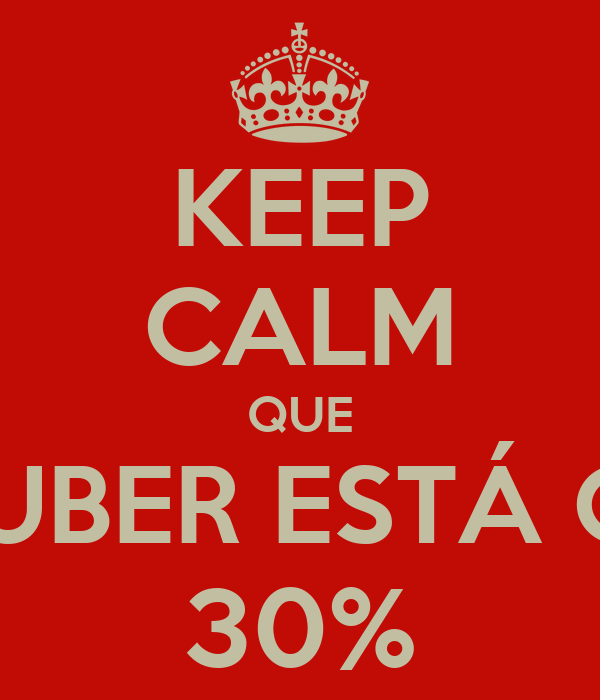 KEEP CALM QUE A GUBER ESTÁ COM 30%