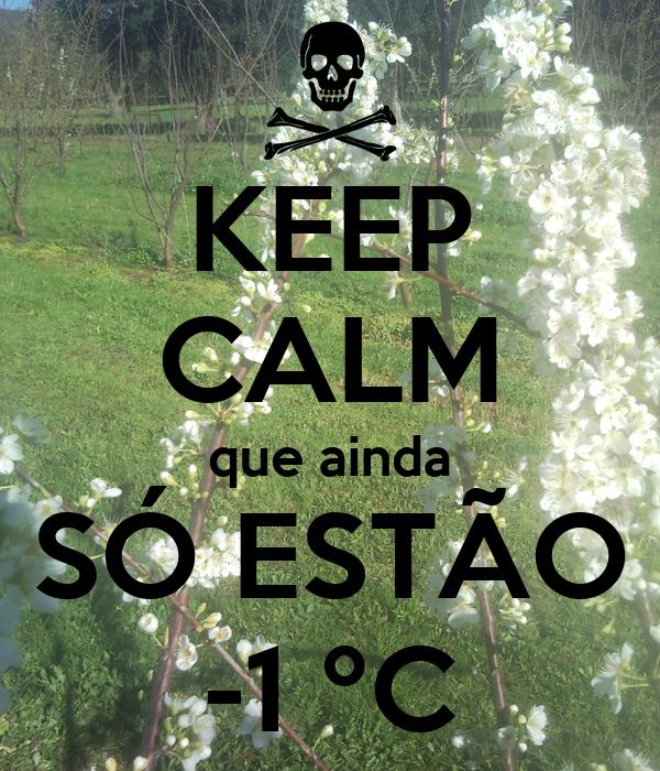 KEEP CALM que ainda SÓ ESTÃO -1 ºC