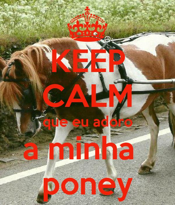 KEEP CALM que eu adoro a minha   poney