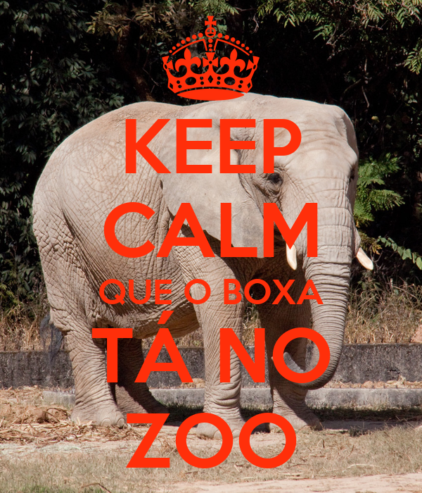 KEEP CALM QUE O BOXA TÁ NO ZOO