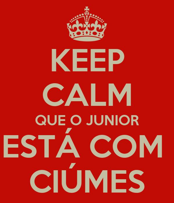 KEEP CALM QUE O JUNIOR ESTÁ COM  CIÚMES