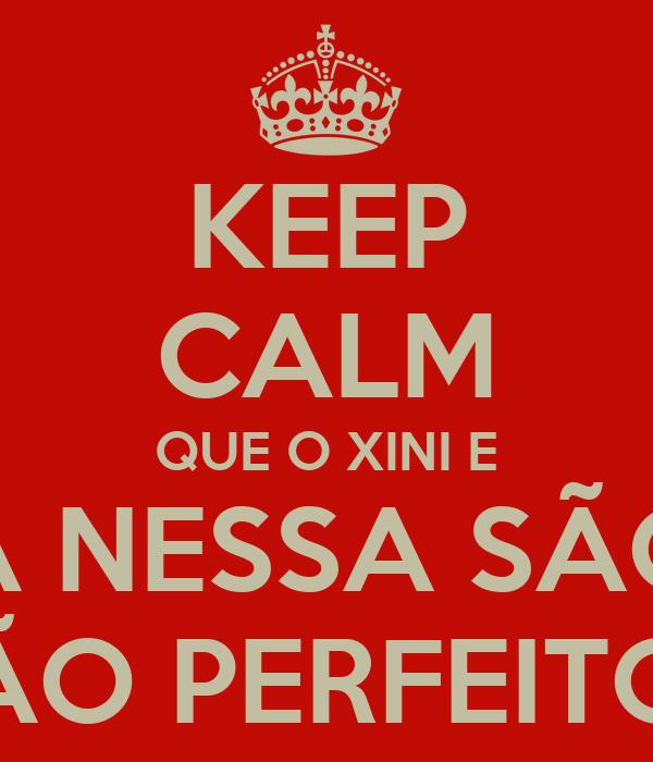 KEEP CALM QUE O XINI E A NESSA SÃO SÃO PERFEITOS